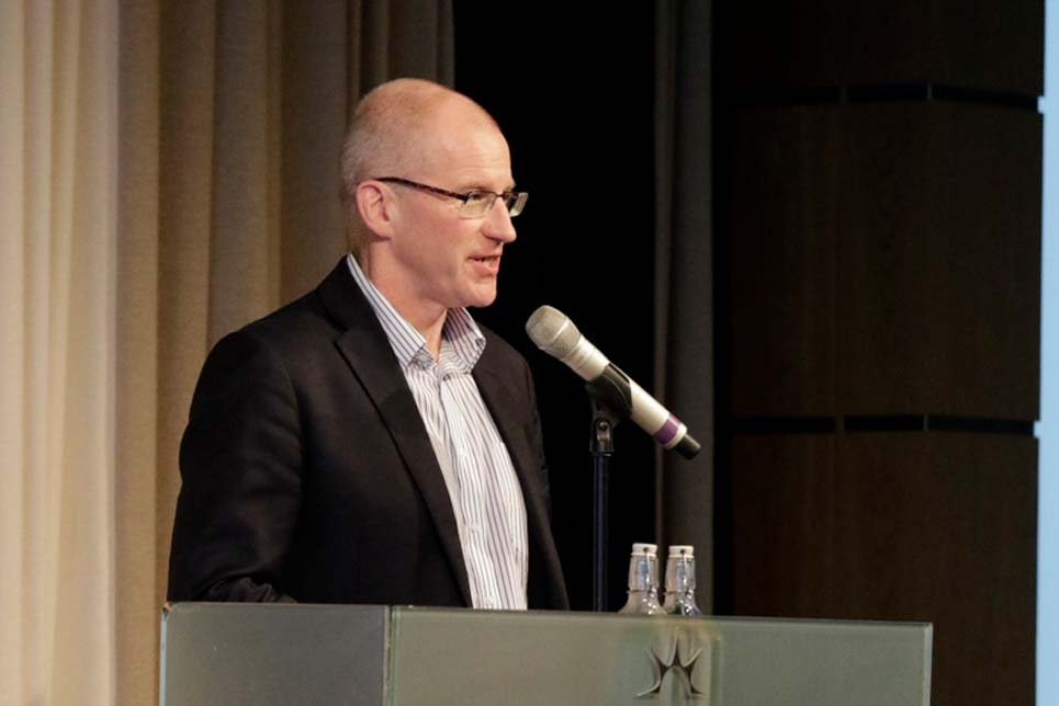 Paul Thompson during the Opening Plenary